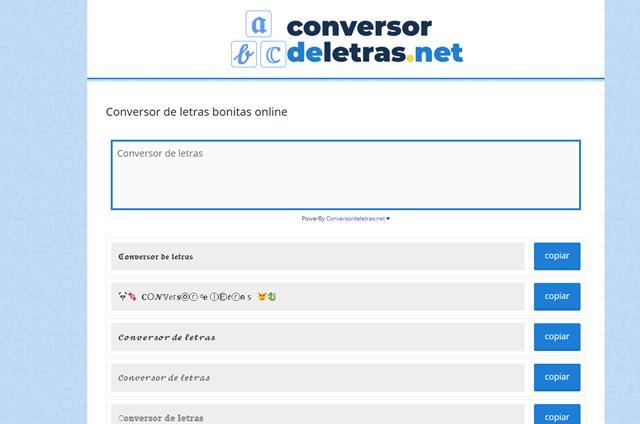 conversor de letras online