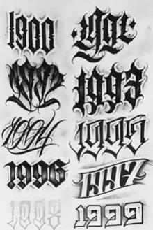 fuente para tatuajes getto